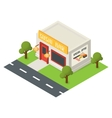 isometric restaurant building icon vector image vector image
