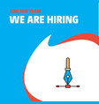 join our team busienss company we are hiring vector image vector image