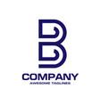 letter b geometric business logo design vector image vector image