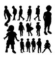 little boy silhouettes vector image