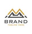 m mountain initial logo design vector image vector image