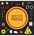 Make your pizza vector image vector image