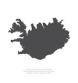 map iceland isolated black vector image