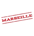 Marseille Watermark Stamp vector image vector image