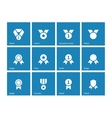 Medal and awards icons on blue background vector image vector image