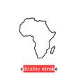 minimal editable stroke africa map icon