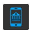 Mobile Bank Icon vector image vector image