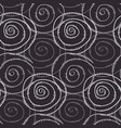 monochrome pattern with hand drawn round spirals vector image