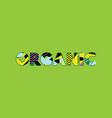 organic concept word art vector image vector image