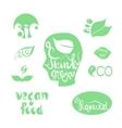 Organicbioecology natural logotypes elements set vector image
