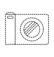 photo camera icon in black dotted silhouette vector image vector image