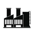 Plant industrial building icon vector image vector image