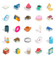 ranch icons set isometric style vector image vector image