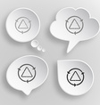Recycle symbol White flat buttons on gray vector image vector image
