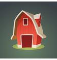 Red Farm Barn Icon vector image