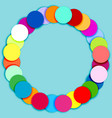Round frame made of multicolor circles vector image vector image
