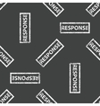 Rubber stamp RESPONSE pattern vector image vector image