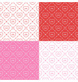 set of seamless patterns with buttons vector image