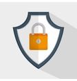 shield padlock secure data icon vector image vector image