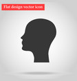 silhouette of the head and face bald man icon flat vector image