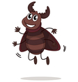 smiling beetle vector image vector image