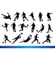 soccer players silhouettes vector image