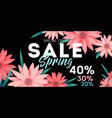 spring sale banner special offer advertising vector image