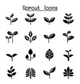 sprout plant treetop leaf icon set graphic design vector image vector image