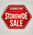 storewide sale typographic design template vector image vector image