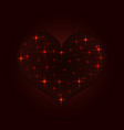 stylized heart from bright stars vector image