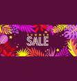 summer sale banner for 2021 hot season vector image vector image