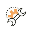 support repair web development icon line and fill vector image