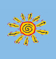 symbol of the sun vector image vector image