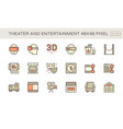 theater and entertainment icon set design 48x48 vector image vector image