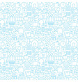 thin shopping retail line white seamless pattern vector image
