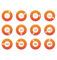 timer icons set vector image vector image