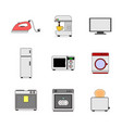 various home appliance stuffs set vector image