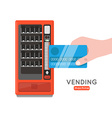 Vending machine set Sell snacks and soda drinks vector image vector image