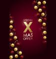vertical xmas sale banner christmas promo design vector image vector image