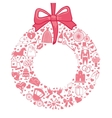 Wedding wreath of flat icons setPink vector image