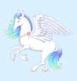 white pegasus vector image vector image
