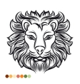 Wild lion coloring page vector image vector image