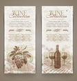 Wine and winemaking vintage banners vector image