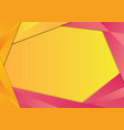 yellow and pink triangle frame border vector image