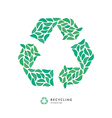 Beautiful Recycle Symbol Logo Icon Made up of vector image