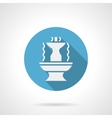 Abstract fountain blue round icon vector image