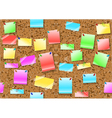 post it notes background vector image