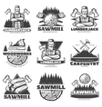 Lumberjack Monochrome Labels Set