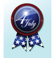 4th July emblem vector image vector image