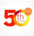 50 anniversary chart logo vector image vector image
